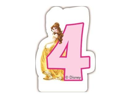 Narozeninová svíčka Princess & Animals 4 years DISNEY