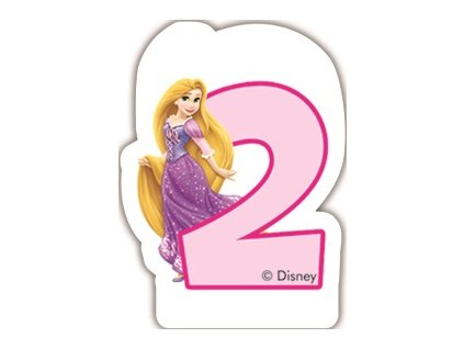Narozeninová svíčka Princess & Animals 2 years DISNEY
