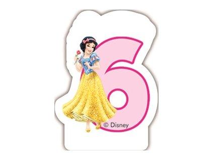Narozeninová svíčka Princess & Animals 6 years DISNEY