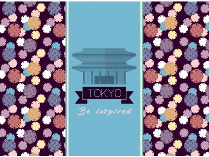 Sada 2 podložek na stůl z korku City Tokyo 39,5 x 29,5 cm AMBITION