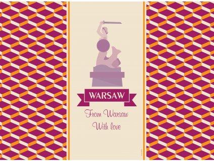 Sada 2 podložek na stůl z korku City Warszawa 39,5 x 29,5 cm AMBITION