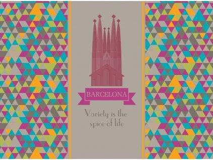 Sada 2 podložek na stůl z korku City Barcelona 39,5 x 29,5 cm AMBITION