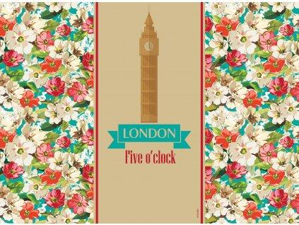 Sada 2 podložek na stůl z korku City London 39,5 x 29,5 cm AMBITION