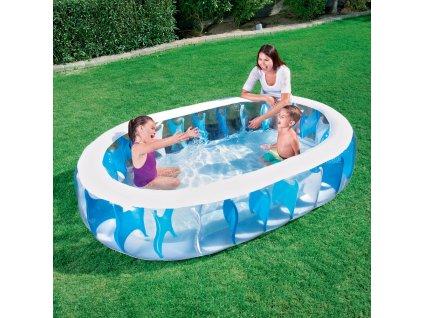 Nafukovací bazén Eliptic Pool 229 x 152 x 51 cm MIX BAREV BESTWAY