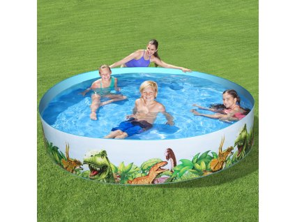 Dětský nadzemní bazén Dinosaurous 224 x 46 cm BESTWAY