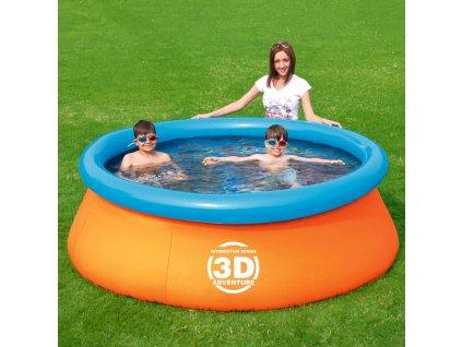 Nadzemní bazén s límcem Splash & Play 3D 213 x 66 cm BESTWAY