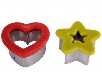 Formičky na vykrajování těsta Hvězda a Srdce