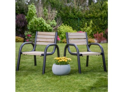Dřevěná zahradní židle Park 65 x 74 x 86 cm PATIO