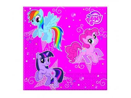 Sada 20 ubrousků My Little Pony Sparkle 33 x 33 cm DISNEY