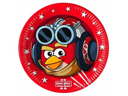Sada 8 papírových talířů Angry Birds Star Wars 23 cm DISNEY
