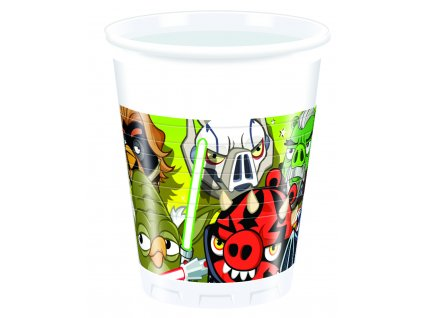 Sada 8 plastových kelímků Angry Birds Star Wars 200 ml DISNEY