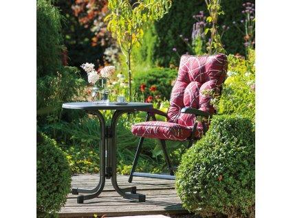 Zahradní stůl Dine & Relax Pizarra / Antracit 100 cm PATIO