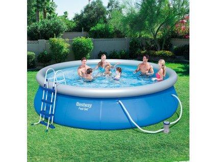 Nadzemní bazén s límcem a příslušenstvím Fast Set 457 x 107 cm BESTWAY