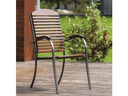Kovová / dřevěná zahradní židle Apollo PATIO