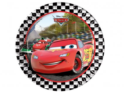 Sada 8 papírových talířů Cars Formula 23 cm DISNEY