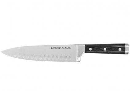 Nůž šéfkuchaře s vertikálním vroubkováním Kyoto 20 cm AMBITION