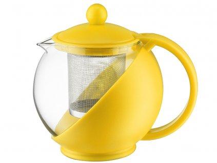 Džbánek se sítkem na zapařování Morgan Yellow 750 ml DOMOTTI