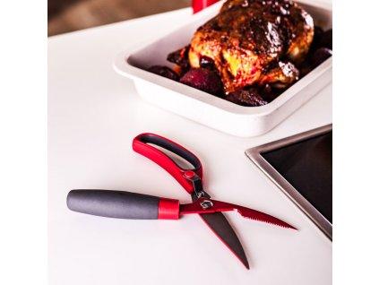 Nůžky na porcování kuřete Eddie Red AMBITION