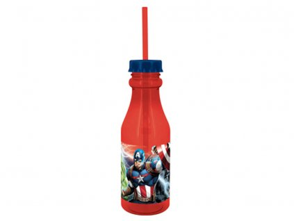 Láhev s brčkem Avengers 500 ml DISNEY