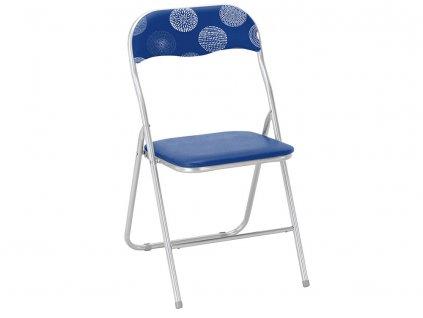 Skládací zahradní židle Flower Dark Blue PATIO
