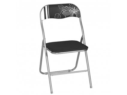 Skládací zahradní židle Flower Black & White PATIO