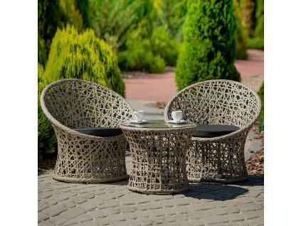 Souprava zahradního nábytku z technorattanu Rosalie Cappuccino PATIO