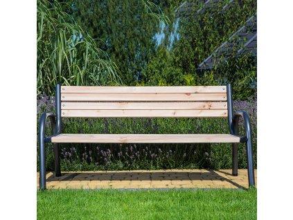Dřevěná zahradní lavička Park 170 x 74 x 86 cm PATIO