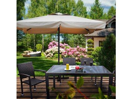 Zahradní slunečník Resto 3,5 x 3,5 cm Taupe PATIO