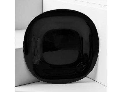 Mělký talíř Carine Neo Black 27 x 27 cm LUMINARC