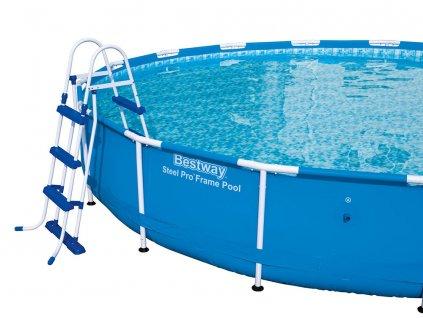 Oboustranný žebřík 107 cm do bazénu BESTWAY