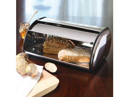 Nerezový chlebník Silver 35,5 x 23 x 14,5 cm