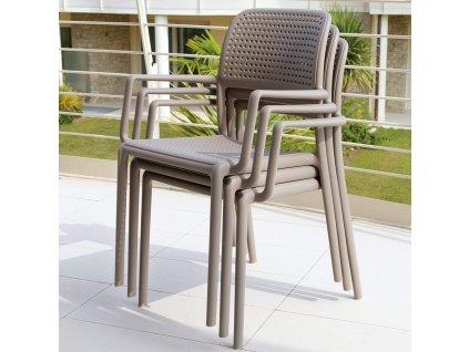 Plastová zahradní židle Bora Tortora NARDI