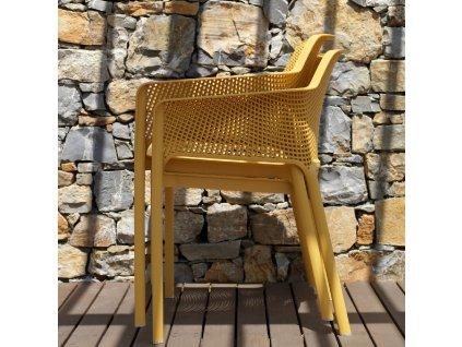 Plastová zahradní židle Net Senape NARDI