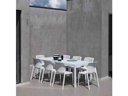Rozkládací zahradní stůl Rio Bianco 100 x 210/280 x 76 cm NARDI