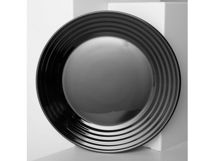 Mělký talíř Harena Black 25 cm LUMINARC