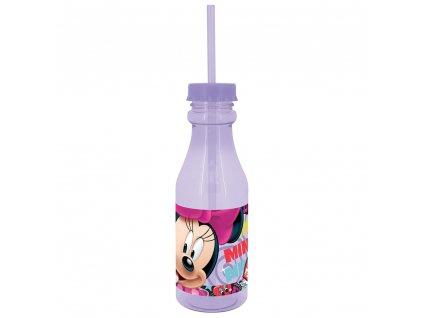 Láhev s brčkem Minnie Style Violet 500 ml DISNEY