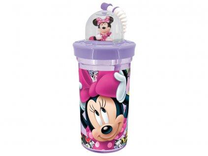 Sportovní láhev s figurkou Minnie Style Violet 420 ml DISNEY