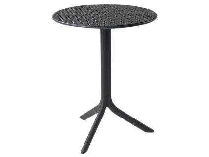 Plastový zahradní stůl Step Antracite 60,5 cm NARDI