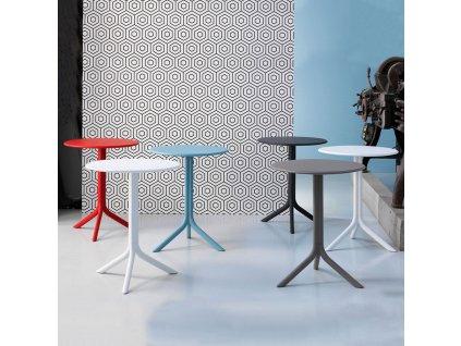 Plastový zahradní stůl Step Celeste 60,5 cm NARDI