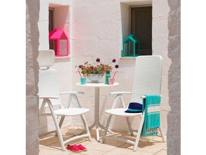 Plastový zahradní stůl Step Bianco 60,5 cm NARDI