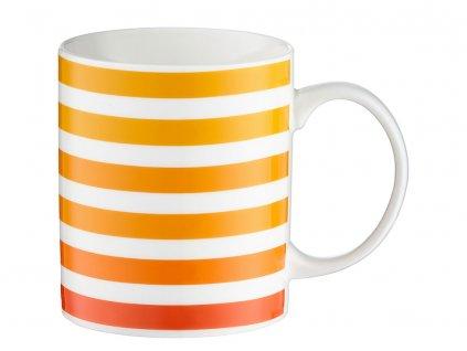 Porcelánový hrnek Juicy Orange Stripes 350 ml DOMOTTI