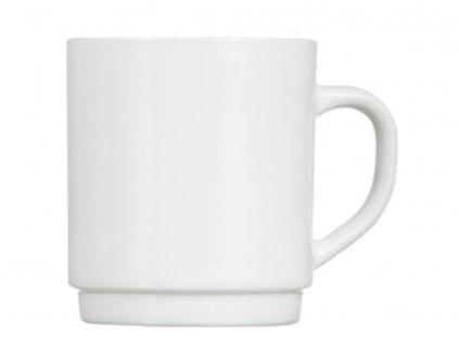 Bílý skleněný hrnek 290 ml LUMINARC