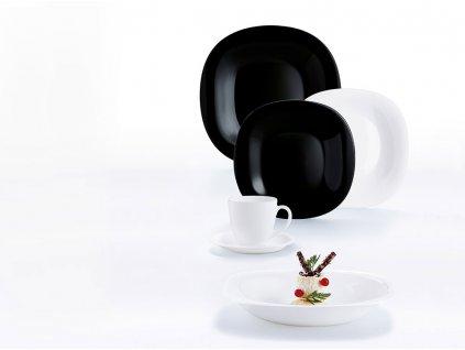 Jídelní servis Carine Neo Black & White 30-dílů LUMINARC