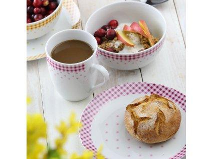 Dezertní talíř Breakfast Red 20 cm DOMOTTI