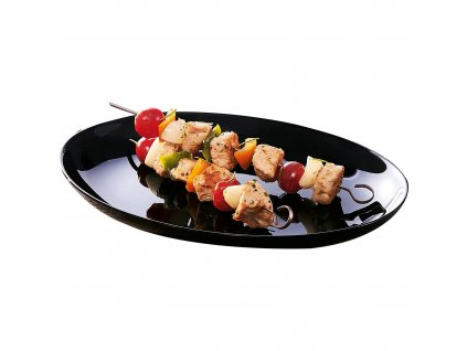 Mělký talíř Barbecue Friends Time Black 32,8 cm LUMINARC