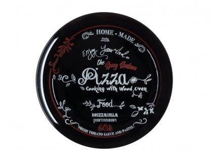 Mělký talíř Pizza Friends Time Saloon Black 32 cm LUMINARC
