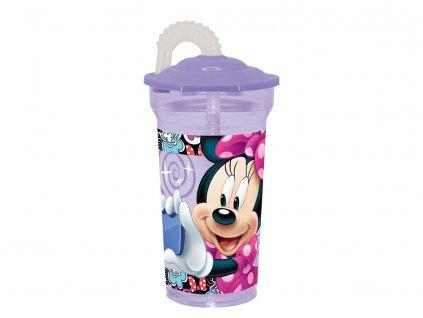 Láhev se slámkou Minnie Style Violet 350 ml DISNEY