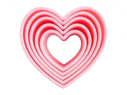 Sada 5 formiček Sweet Pink Hearts AMBITION