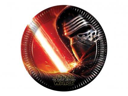 Sada 8 papírových talířů Star Wars The Force Awakens 23 cm DISNEY