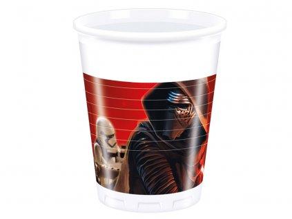 Sada 8 plastových kelímků Star Wars The Force Awakens 200 ml DISNEY